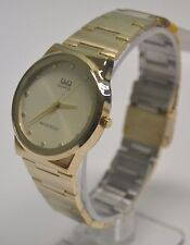 NEW Q&Q By Citizen Gold and Pearl Dial Men's Watch   Elegant