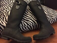 Retail $65 Kamik Women Jennifer Rain Boots Black Rubber Sz 7