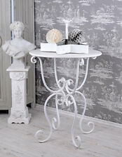 TABLE BASSE Shabby Chic Table De Jardin Blanc Fer Jardin Table Antique
