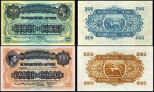!REPLICA! EAST AFRICA 200 SHILLINGS 1921,1000 SHILLINGS 1939 BANKNOTES NOT REAL!