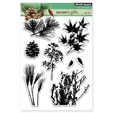 PENNY BLACK RUBBER STAMPS CLEAR NATURE'S GIFTS STAMP SET