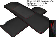 RED STITCHING FITS RENAULT 5 & GT TURBO 2X SUN VISORS LEATHER COVERS ONLY