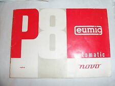 Instructions cine projector EUMIG P8 automatic novo COPY CD/email