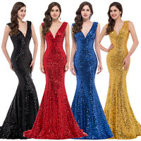 SHINING Sequined Evening Cocktail Party Ball Gown Celebration Prom Dress  6 - 20