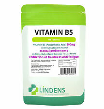 Vitamin B5 Pantothenic Acid Tablets 90 x 500mg Lindens Stress / Sleep Supplement