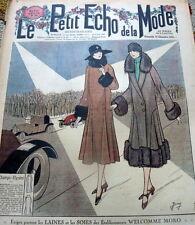 VTG 1920s PARIS FASHION & SEWING PATTERN MAGAZINE LE PETIT ECHO de la MODE 1926