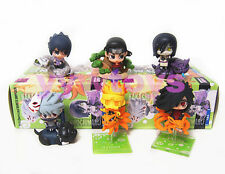 Set 6 Piece Naruto Shippuden Petit Chara Land Toy Figure Doll Series 3