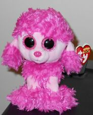 "Ty Beanie Boos - PATSY the 6"" Pink Poodle Dog ~ 2016 NEW with Tags ~ IN HAND"
