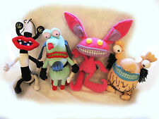RARE SET 4 AAAHH! REAL MONSTERS GROMBLE KRUMM ICKIS OBLINA PLUSH NICKELODEON TOY