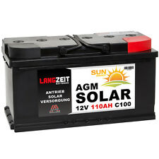 Solarbatterie 12V 110AH AGM GEL USV Batterie Boot Schiff Wohnmobil 90Ah 100Ah