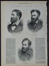 Illustrated London News Full Page B&W S6#83 May 1879 Associates of Royal Academy