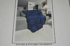Plymouth Knitting Pattern P255 Encore Worsted Afghan Colorspun