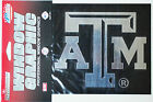 Texas A&M Window Graphic - Silver Chrome Vinyl Decal 4x5