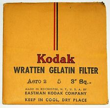 "Kodak Wratten 5 (aka Aero 2) Gelatin 75mm (3"") Square Filter NEW - UNOPENED"