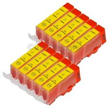 10 cartuchos para Canon + chip CLI 521 Yellow IP 3600 IP 4600 IP 4700 mp 540 mp550