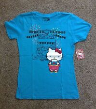 RARE Sanrio Hello Kitty & Friends 50th Anniversary Small Gift Blue T-Shirt SizeM