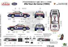 [FFSMC Productions] Decals 1/18 Porsche SCRS Tour de Corse 1985
