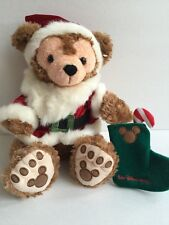 Disney Pre Duffy Santa Bear Plush Hidden Mickey Rare HTF NEW