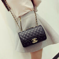 2017 Women Quilted Chain Bag Leather Shoulder Crossbody handbag Messenger
