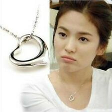 Women's Korean Love Heart  Alloy Sweater Long Chain Pendant Necklace