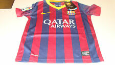FC Barcelona 2013-14 Soccer Home Jersey Short Sleeves XL League Boys Kids