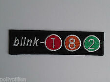 PUNK ROCK HEAVY METAL MUSIC SEW ON / IRON ON PATCH:- BLINK 182 (b) NUMBER STRIPE