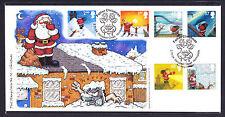 2004 GB de Gran Bretaña Phil Sello Primer Día Cubierta Fdc Santa Navidad 89 de 100