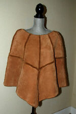 UGG Australia Womens Chestnut Fur Lined Shearling and Suede Poncho Size S/P-M