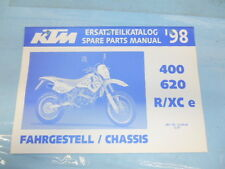 1998 KTM 400/620 R/XC e Chassis Spare Parts Manual 320443