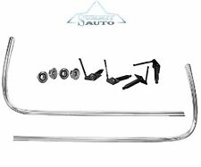 67 68 Mustang STAINLESS STEEL Grille Molding (Narrow) Right & Left Side w/Clips