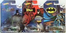 Hot Wheels 2015   Arkham Asylum Batmobile  The Batman Batmobile  Live Batmobile