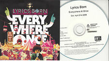 LYRICS BORN Everywhere At Once UK 16-trk numbered/watermarked promo test CD