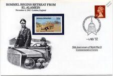 La segunda guerra mundial 1942 el Alamein Rommel retiros/Greif Semioruga Sello Cubierta (Danbury Mint)