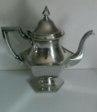 Gorgeous Wallace Six Panel Beaded Silver Plated Teapot