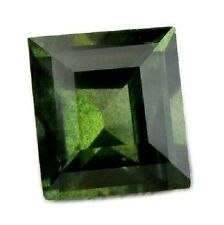 Certified Natural Unheated Green Sapphire VS Clarity Square Madagascar Gem