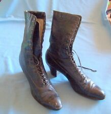 Antique Black High Top Lace Up Ladies Shoe Selby Shoe Co. - C