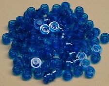 x100 NEW Lego TRANSLUCENT Plates Trans BLUE Caps 1 x 1 Round Plates