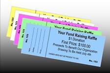 5000 Custom Printed Raffle Tickets Perfed & Numbered - BONUS 300 FREE TICKETS