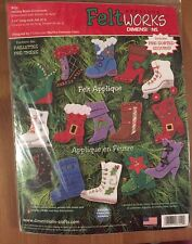Dimensions Felt Works Applique Kit - Holiday Boots Ornaments - NEW