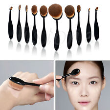 10Pcs Oval Cream Puff Toothbrush Shaped Cosmetic Power Makeup Foundation Brushes