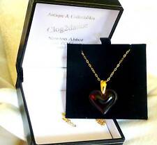 Lalique beautiful red heart / 9ct gold chain -For your loved one be my Valentine