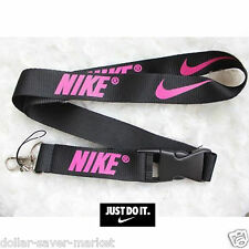 NIKE Pink Lanyard ID Holder Keychain cell phone Fitness - Runners - Sport