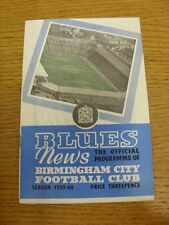 05/12/1959 Birmingham City v Manchester City  . Thanks for viewing our item, if