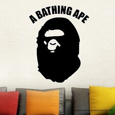 Bathing Ape Wall Decal Stickers Decor Modern Easy Stickers Vinyl Decal