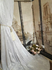 "NEW Bespoke Huge Heavy White Crushed Velvet  54""W93""Long Lined Bay Curtains"