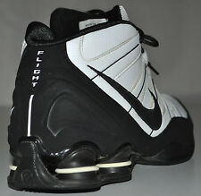 Nike Shox High-Top Black & White Flight 2008 Basketball Shoes 333491-101 Size 12