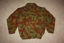 RARE Italian M1929 pattern camo jacket, with detachable hood, and rank slide