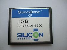 SiliconDrive 1GB CF Compact Flash  CF Card SSD-C01G-3500