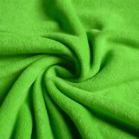 Soft Lime Green Anti Pill Polar Fleece Fabric *Per Metre