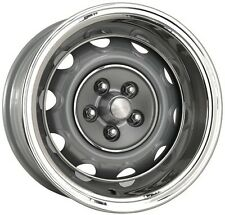 4- 15x7  MOPAR RALLY WHEELS, CAPS & RINGS 4 1/2 bolt pattern CHARGER CUDA